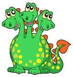 Três dirigiram o dragão Fotografia de Stock