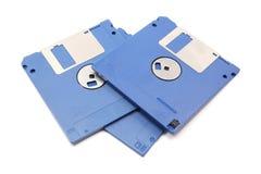Três discos flexíveis azuis Imagens de Stock