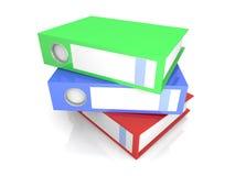 Três dobradores ilustração do vetor