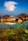 Três elementos: céu, terra e água Foto de Stock Royalty Free