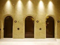 Três elevadores Fotos de Stock Royalty Free