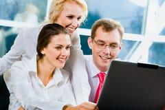 Três empresários Fotos de Stock Royalty Free