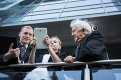 Três empresários Imagens de Stock Royalty Free