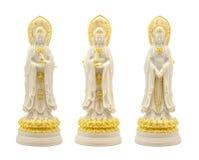 Três enfrentam a estátua de Guanyin de Nanshan fotografia de stock royalty free