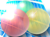 Três esferas Fotografia de Stock