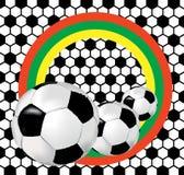 Três esferas de futebol Imagens de Stock Royalty Free