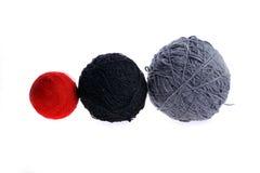 Três esferas do fio no branco Imagens de Stock Royalty Free