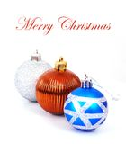 Três bolas do Natal foto de stock royalty free