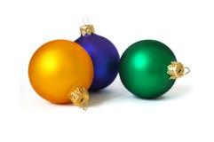 Três esferas em um fundo branco Foto de Stock