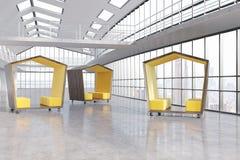 Três espaços de espera Imagem de Stock