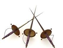 Três espadas Imagem de Stock