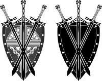 Três espadas e protetores Fotografia de Stock
