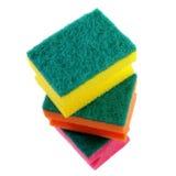 Três esponjas coloridas. Fotos de Stock