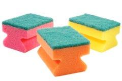 Três esponjas coloridas. Imagem de Stock