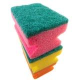 Três esponjas coloridas. Fotografia de Stock