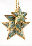 Três estrelas azuis da cor fotografia de stock royalty free