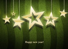 Três estrelas do Natal Fotos de Stock Royalty Free