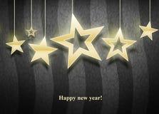 Três estrelas do Natal Imagem de Stock Royalty Free