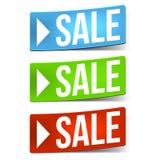 Três etiquetas da venda Fotos de Stock Royalty Free