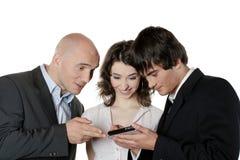 Três executivos da fala Imagens de Stock Royalty Free