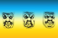 Três faces Imagem de Stock Royalty Free