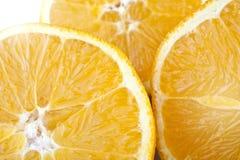 Três fatias de laranja Foto de Stock