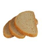 Três fatias de pão isoladas Fotografia de Stock Royalty Free