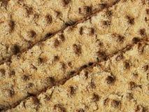 Três fatias do pão estaladiço Imagens de Stock Royalty Free