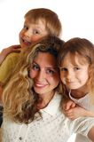 Três felizes imagem de stock