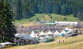 Três festival Rozhen em Bulgária lunch foto de stock royalty free
