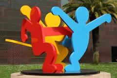 Três figuras de dança Foto de Stock