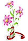 Três flores Fotos de Stock Royalty Free