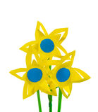 Três flores de papel Fotografia de Stock Royalty Free