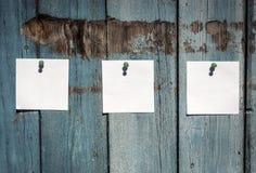 Três folhas vazias do Livro Branco Fotografia de Stock Royalty Free
