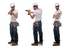 Três fotos do construtor Imagem de Stock
