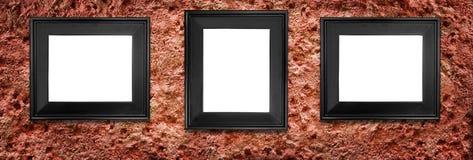 Três frames Fotografia de Stock