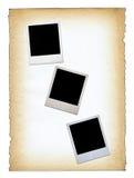 Três frames em branco da foto Imagens de Stock