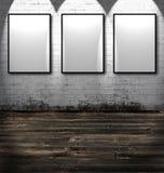 Três frames vazios Fotos de Stock