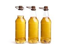 Três frascos da cerveja clara Imagem de Stock