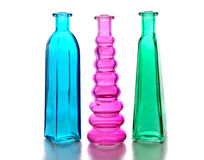 Três frascos de vidro Foto de Stock Royalty Free
