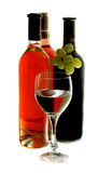 Três frascos do vinho Imagens de Stock
