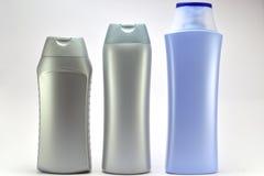 Três frascos plásticos Imagem de Stock