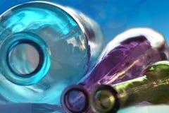 Três frascos que colocam no lado Fotografia de Stock
