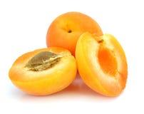 Três frutas frescas do alperce fotos de stock