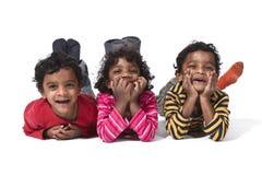 Três gêmeos pequenos Fotografia de Stock Royalty Free