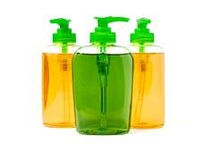 Três garrafas do distribuidor do sabão líquido Foto de Stock Royalty Free