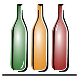 Três garrafas do vetor Ilustração do Vetor
