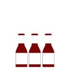 Três garrafas genéricas do condimento no fundo isolado Fotos de Stock