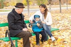 Três gerações Fotos de Stock Royalty Free