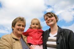 Três gerações Fotografia de Stock